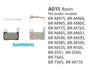 BR-M775 A01S Resin Disc Brake Pads | Y8EP98010