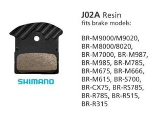SHIMANO DISC BRAKE PADS J02A