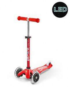 Mini Micro Deluxe LED Red | Micro Scooters Perth | Kids Scooters