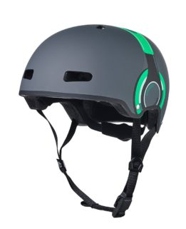 Micro Helmet Green Headphones SM