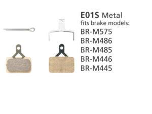 BR-M575 E01S Metal Disc Brake Pads | Y8FL98010