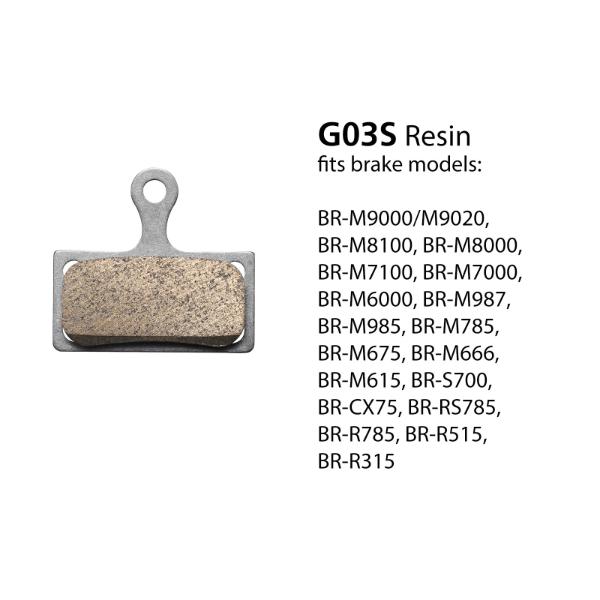 BR-M7000 G03S Resin Disc Brake Pads