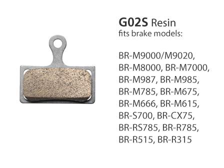 BR-M7000 G02S Resin Disc Brake Pads | Y8WW98030