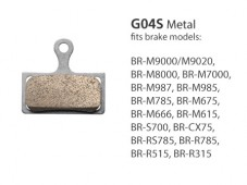 BR-M8000 G04S Metal Disc Brake Pads | Y8MY98010