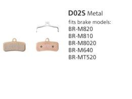 BR-M810 D02S Metal Disc Brake Pads | Y8FF98010