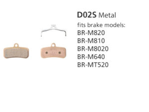 BR-M810 D02S Metal Disc Brake Pads | Y8FF98010
