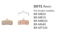 BR-M810 D01S Resin Disc Brake Pads | Y8FF98020