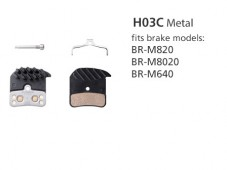 BR-M820 H03C Metal Disc Brake Pads | Y8VT98020