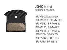 BR-M9000 J04C Metal Disc Brake Pads | Y8LW98030