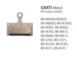 BR-M9000 G04Ti Metal Disc Brake Pads | Y8LW98010