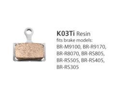 BR-M9100 K03Ti Resin Disc Brake Pads   Y1XC98010