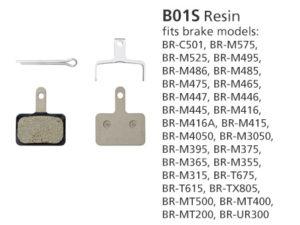 BR-MT400 B01S Resin Disc Brake Pads | Y8C998050