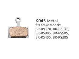 BR-R9170 K04S Metal Disc Brake Pads | Y8N398020