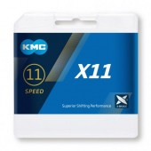 X11 Chain 11 Speed KMC Silver-Black