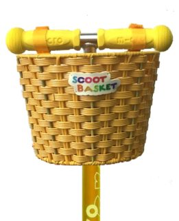 Micro Basket Yellow   Micro Scooters Perth