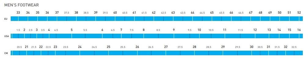 Shimano Shoe Size Chart Men