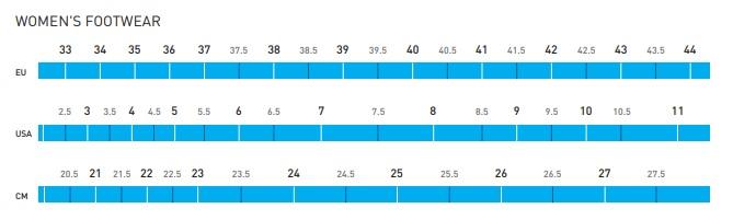 Shimano Shoe Size Chart Women