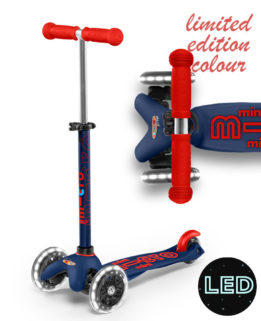 Mini Micro Deluxe LED Navy Blue | Micro Scooters Perth | Kids Scooters