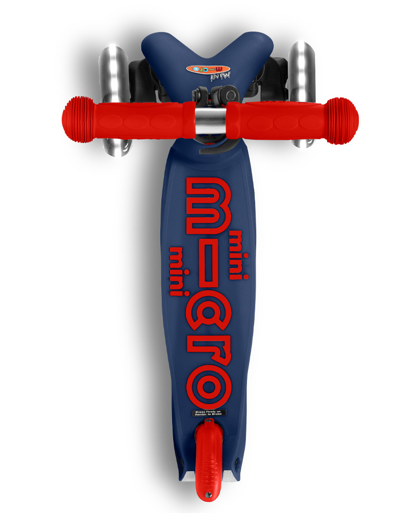 Mini Micro Deluxe LED Navy Blue   Micro Scooters Perth   Kids Scooters