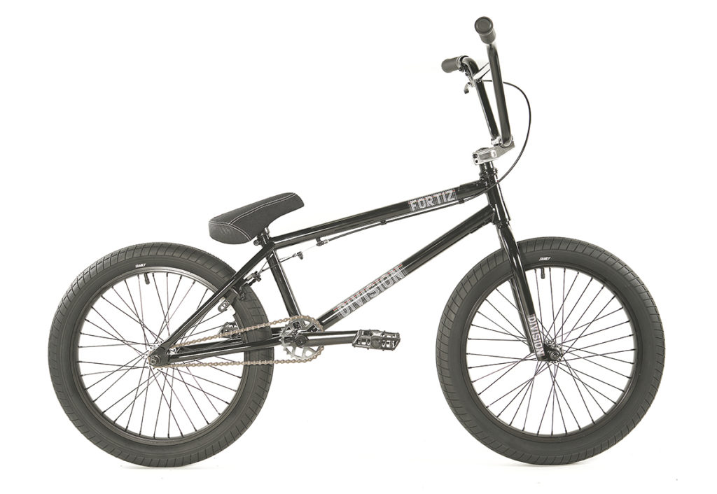 Division Fortiz BMX Black Polished | BMX Bikes Perth