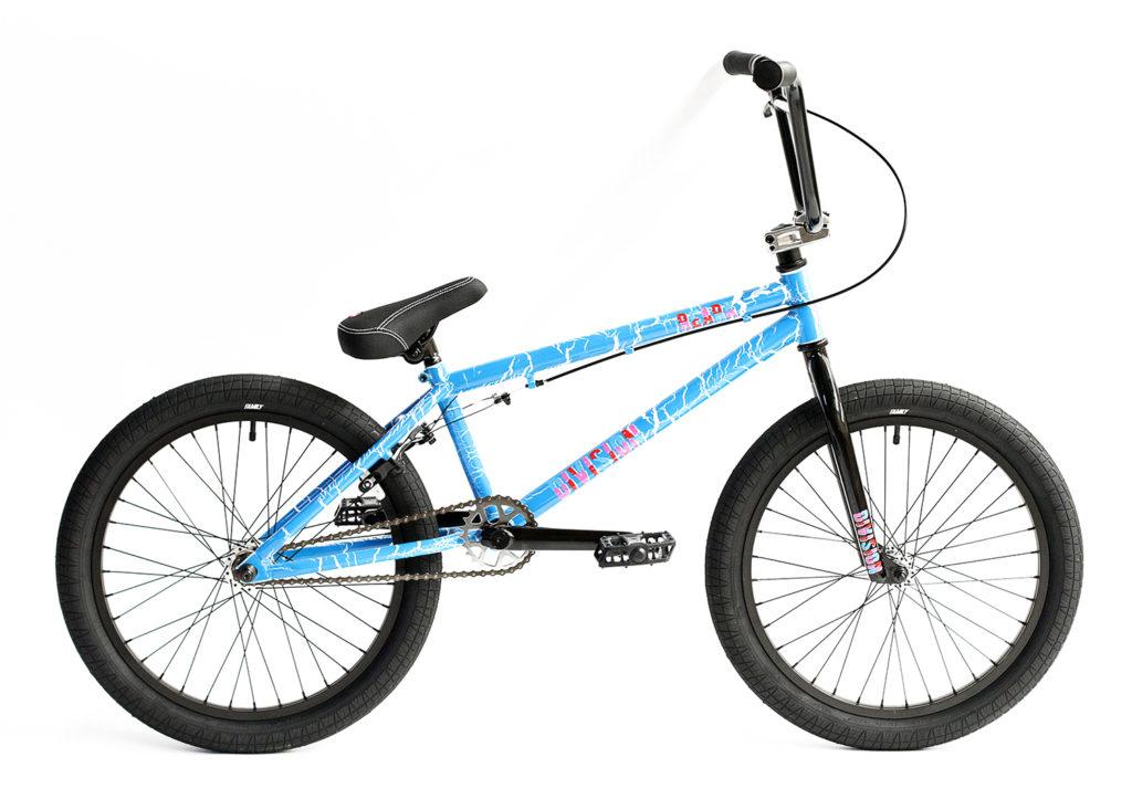 Division Reark BMX Crackle Blue   BMX Bikes Perth
