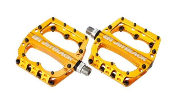 JB Superlight MTB Pedals Gold | JetBlack Pedals