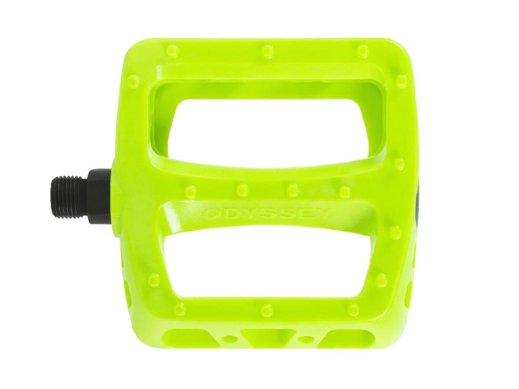 Odyssey PC Twisted Pedals Fluro Yellow | Odyssey BMX