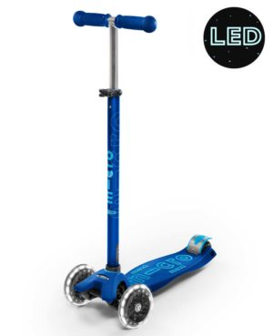 Maxi Micro Deluxe LED Navy Blue | Micro Scooters Perth