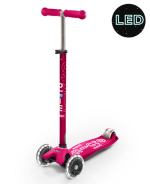 Maxi Micro Deluxe LED Pink | Micro Scooters Perth
