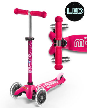 Mini Micro Deluxe LED Pink | Micro Scooters Perth