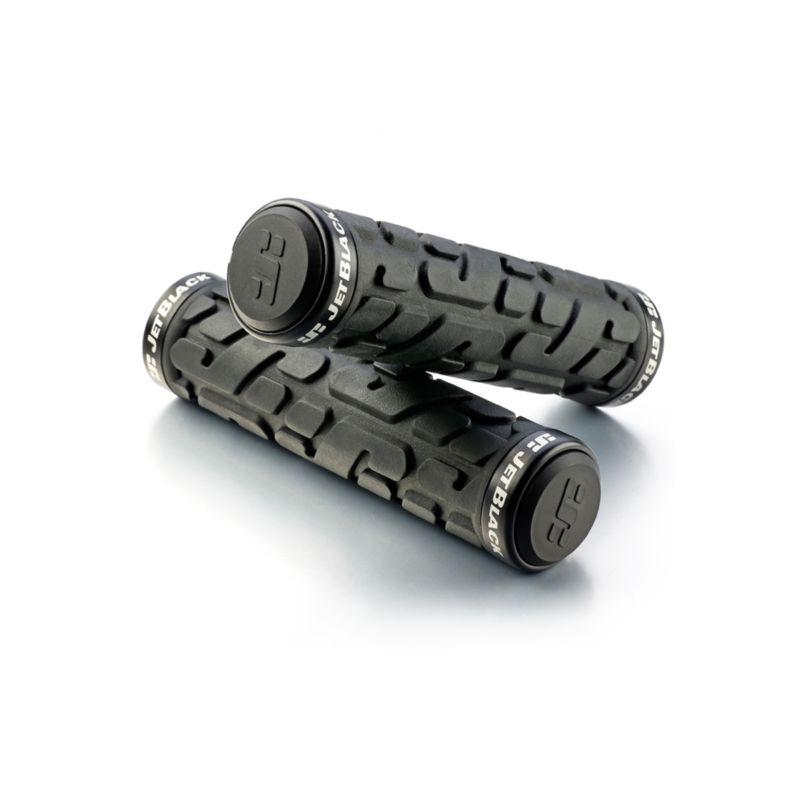 JetBlack Rivet Lock-On Grips Black with Black Rings