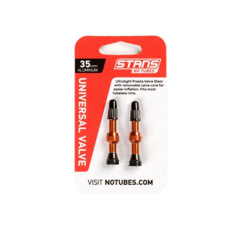 Stans Universal Valve 35mm Orange Aluminium