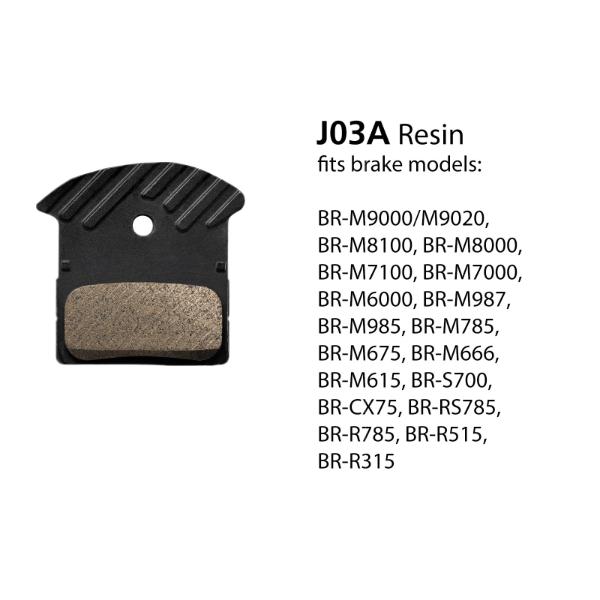 BR-M9000 J03A Resin Disc Brake Pads