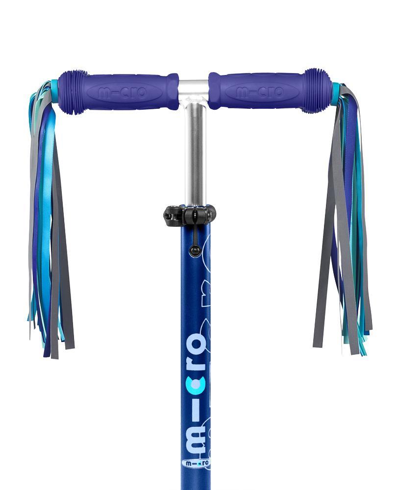 Micro Handle Bar Ribbons Blue Reflective | Micro Scooters Perth
