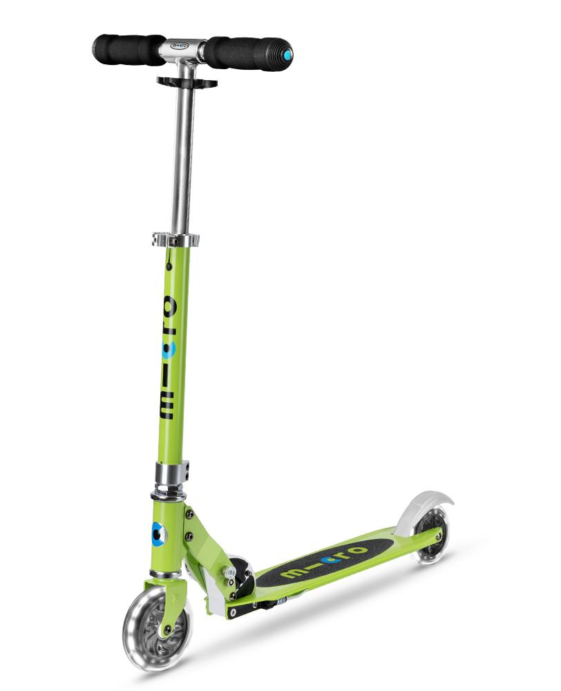 Micro Sprite LED Chartreuse | Micro Scooters Perth